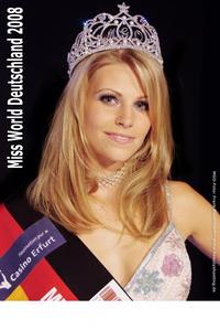Autogrammkarte MISS WORLD DEUTSCHLAND 2008 - Foto: Frank Bauermann